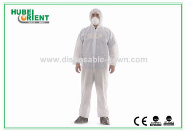 White Disposable Protective Coveralls MS PE Polypropylene Suit