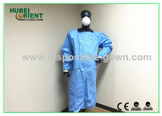 Sterile Ultrasonic Disposable Surgical Gowns with Knitted Wrist for Operation