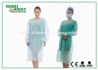 Medical Protective Clothing / Blue Yellow Surgical PP Isolation Gown