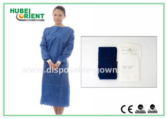 XL SMS Nonwoven Disposable Surgical Gowns with Knitted Wrists , CE ISO